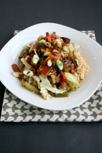Vegan and Gluten-Free Kung Pao Roasted Veggies