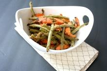 Vegan, Gluten-Free, Sugar-Free and Clean Eating Maple Mustard Glazed Roasted Veggies