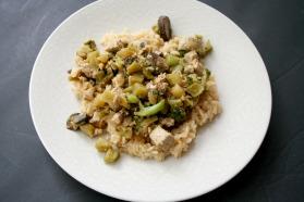 Vegan, Gluten-Free and Clean Eating Orange-Glazed Tofu and Veg