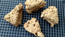 Clean Eating Vegan and GF Sweet Cornbread Scones