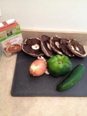 Vegan BBQ Pulled Portobellos and Sweet Potato Salad