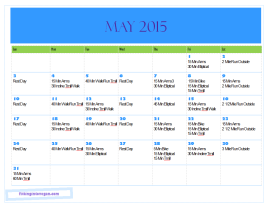 May 2015 Training Plan