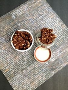 Vegan, Gluten-Free, Sugar-Free Mint Chocolate Pepita Butter Granola