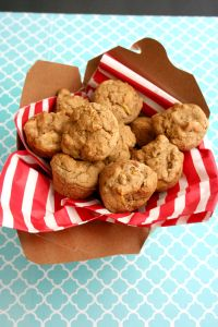 Vegan and Gluten-Free Sugar-Free Spiced Peach Mini-Muffins