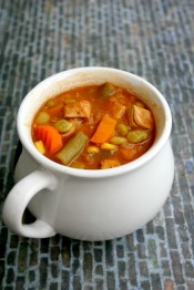 Vegan and Gluten-free BBQ Chicken Soup