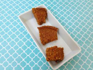 Vegan, Gluten-Free, Sugar-Free Chickpea Pumpkin Blondies