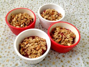 No Bake Peach Raspberry Crumble-4