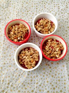 No Bake Peach Raspberry Crumble-5