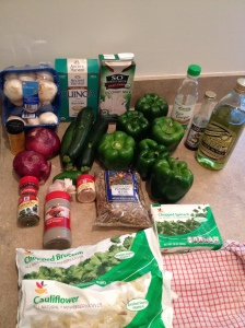 Vegan, Gluten-Free, Soy-free Pumpkin Seed Pad Thai Quinoa Stuffed Peppers