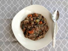 Vegan and Gluten-Free Thick Black Bean Soup - Elimination Diet Meal