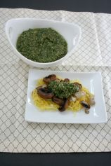 Vegan and Gluten-Free Roasted Veg and Spaghetti Squash with Olive Pesto
