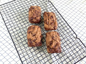The Perfect Little Gifts! Vegan and Gluten-Free Double Chocolate Mocha Zucchini Mini-Loaves
