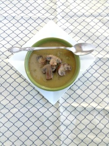 Vegan and Gluten-Free Non-Dairy Creamy Mushrooms Soup