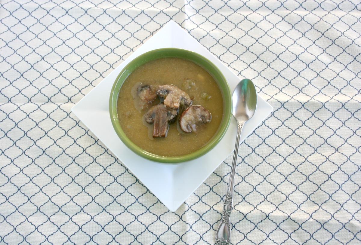Vegan and Gluten-Free Creamy Mushroom SoupElimination Diet