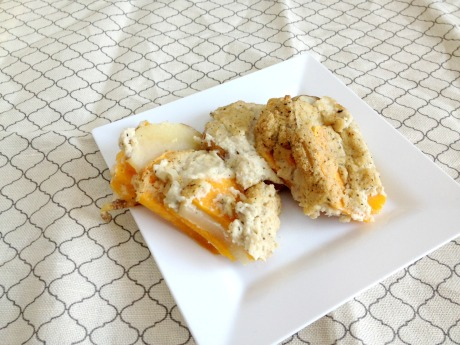 Vegan and Gluten-Free Scalloped Herb de Provence Potatoes and Butternut Squash