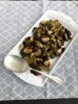 Perfect Holiday Side-dish - Vegan and Gluten-Free Sage Roasted Brussels Sprouts and Mushrooms