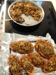 Holiday Side-Dish - Vegan and Gluten-Free Twice Baked Stuffed Sweet Potatoes