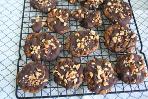 Holiday Baking Time! Vegan and Gluten-Free Chocolate Covered PB Pretzel Cookies