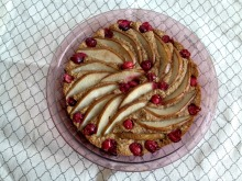 Vegan, Gluten-Free, and No Processed Sugar Pear Cranberry Almond Cake