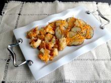Vegan and Gluten-Free Cheesy Roasted Potatoes and Cauliflower