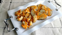Vegan and Gluten-Free Cheesy Roasted Potatoes and Cauliflower