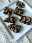 Super Simple Vegan, Gluten-Free, and Refined Sugar-Free Blueberry Crumb Bars