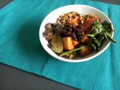Vegan and Gluten-free Roasted Vegetable Nutrient Breakfast Bowl