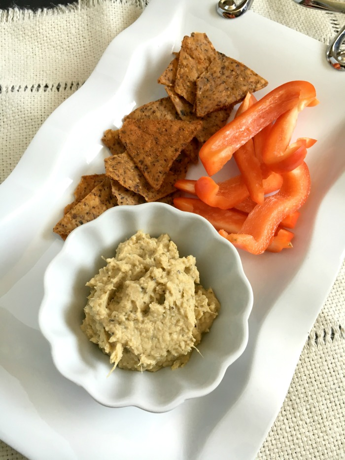 Vegan and Gluten-free Simple Artichoke Antipasto Hummus