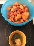 The perfect side-dish for any party or potluck - Vegan and Gluten-Free Dijon Roasted Sweet Potatoes