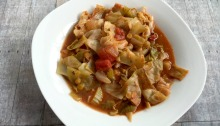 Low Calorie Clean Eating Vegan and Gluten-Free Lentil Cabbage Tomato Soup