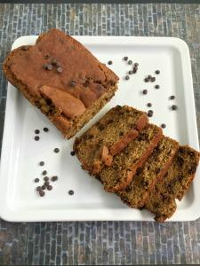 Vegan and Gluten-Free Decedent PB Chocolate Chip Banana Bread