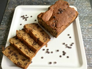 Vegan and Gluten-Free Decedent PB Chocolate Chip Banana Bread