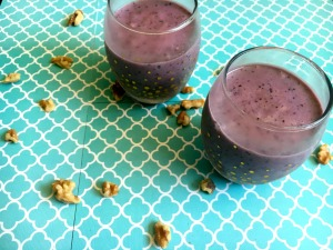 Perfect Holiday or Potluck Healthy Treat - Vegan and Gluten-Free Walnut Blueberry Nice Cream