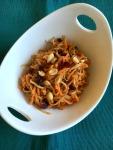 Vegan and Gluten-Free Spiralized Sweet Potato and Apple Salad