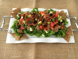 The perfect BBQ or Party salad for every gues - Vegan and Gluten-Free Simplest Taco Salad Ever