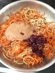 Vegan and Gluten-Free Spiralized Sweet Potato and Apple Salad