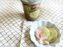 Use up those end of summer cucumbers in a different way - Vegan and Gluten-Free Cucumber Salad