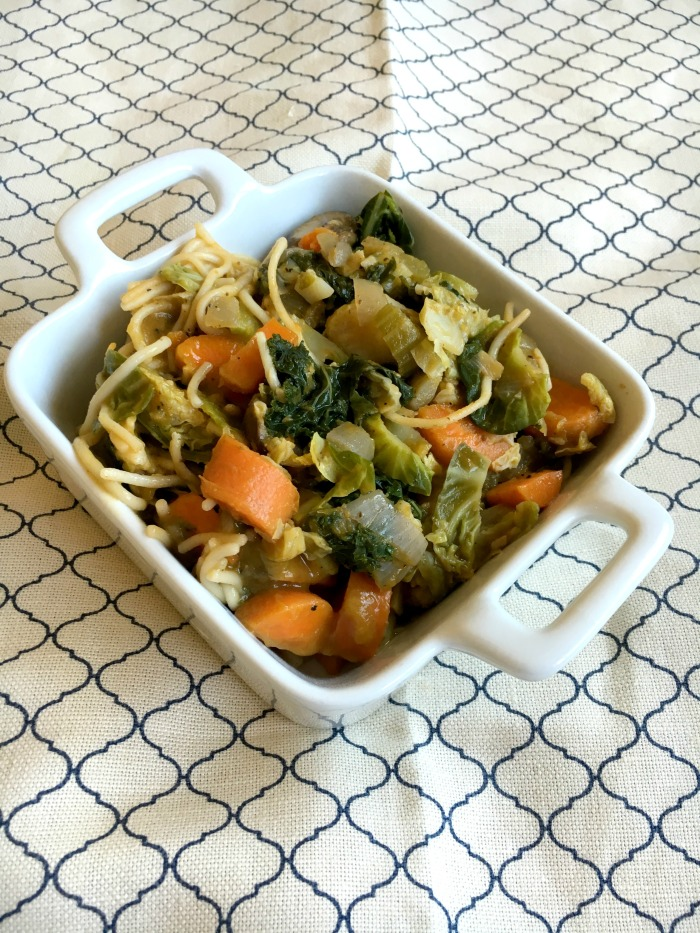 Vegan and Gluten-Free Ready for Fall Veggie Spaghetti!