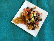 Vegan and Gluten-Free Waffle Fry Nachos