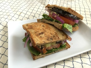 This is the Perfect Way to Use Up the Eggplant Sitting Around - Vegan and Gluten-Free Healthy Eggplant Sandwich #ad