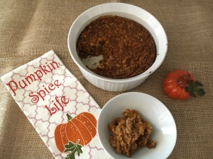 The Perfect Fall Brunch Comfort Food - Vegan and Gluten-Free Pumpkin Oatmeal Casserole