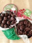 Best Gifts are Homemade Gifts! Vegan, Gluten-Free, and Easy Chocolate Peanut Clusters and Chocolate Covered Peanut Butter Balls