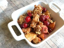 Simple and Delicious - Vegan, Gluten-Free, and Sugar-Free Cranberry Pear Crumble - Elimination Diet Recipe