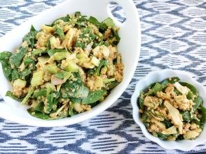 Vegan and Gluten-Free Hummus Vinaigrette Quinoa Salad